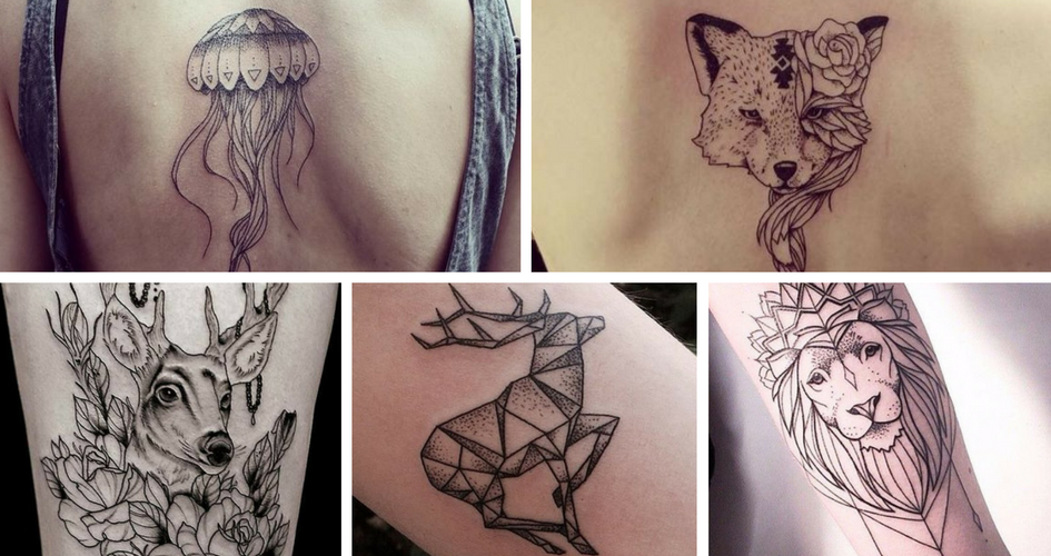mes envies tatouages silhouette animal