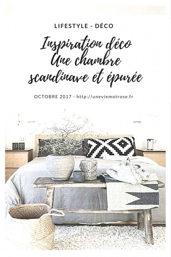 inspiration d co 1 une chambre scandinave et pur e uneviemotrose. Black Bedroom Furniture Sets. Home Design Ideas